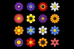 Flower Icons Set