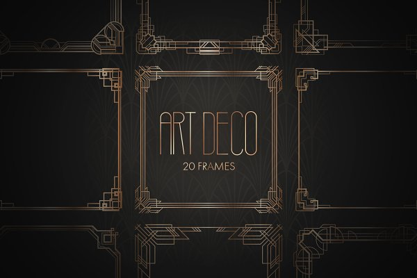 Art Deco Frames. Vol 2