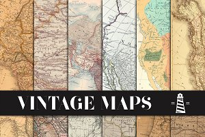 Vintage Maps Backgrounds