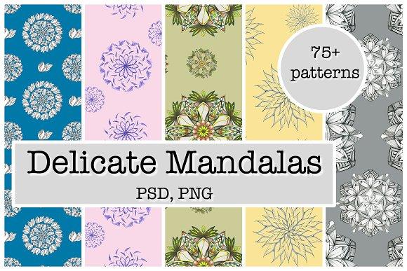 Delicate Mandalas Seamless Patterns