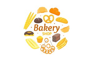 Cartoon Color Bakery Banner Card