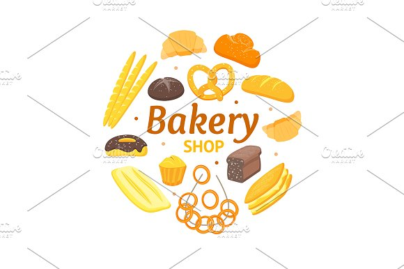 Cartoon Color Bakery Banner Card