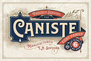 Caniste Font Family 50% OFF