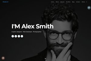 Peachy - one page portfolio theme