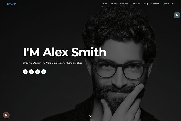 Peachy One Page Portfolio Theme