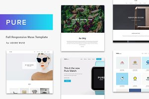 Pure - Full Responsive Muse Template
