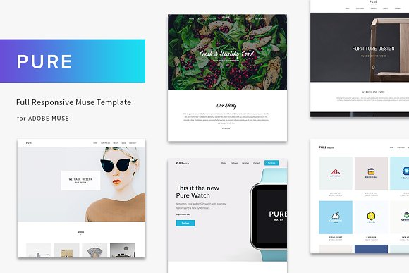 Pure Full Responsive Muse Template