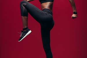 Slim and fit sporty woman