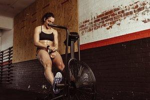 Woman doing cardio exercise