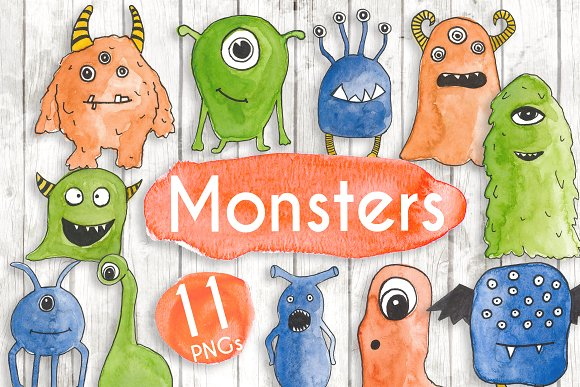 Watercolour Monsters