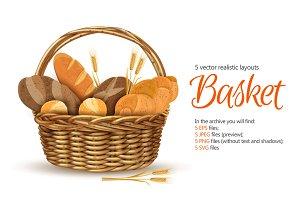 Realistic Basket Set