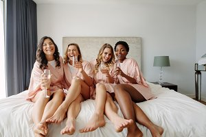 Women having a bachelorette party