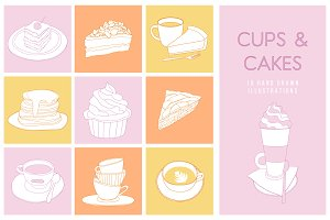 Cups and Cakes set