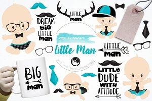 Little man graphics & illustrations