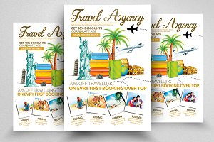 Travelling Agency Psd Flyer Template