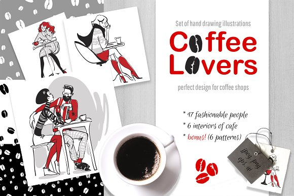 Coffee Lovers Trendy Characters