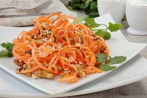 Carrot ribbon salad