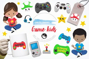 Game kids graphics & illustrations