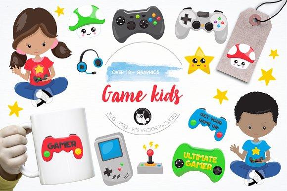 Game Kids Graphics Illustrations