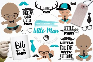 Little man graphics & illustrations