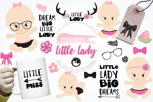 Little lady graphics & illustrations