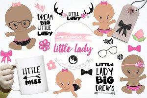 Little lady graphics & illustrations