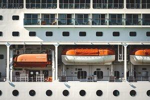 Deck of a transatlantic cruise