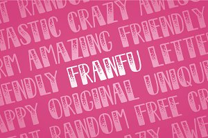 Franfu - Handmade Font, Awesome!
