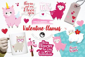 Valentine graphics & illustrations