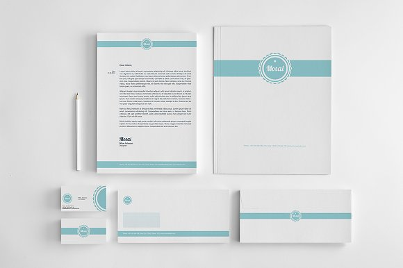 50 bundle corporate identity pack stationery templates
