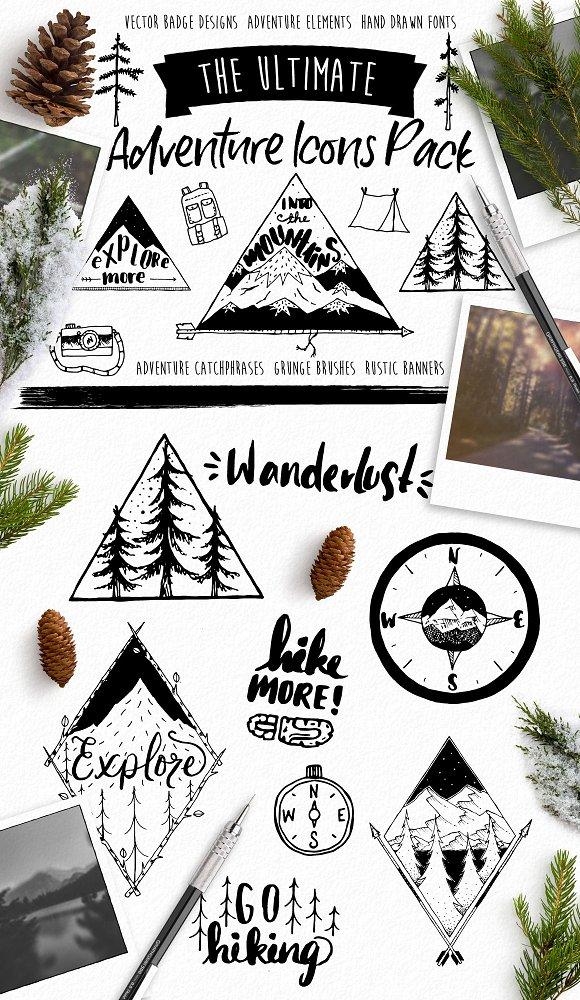 Hand Drawn Adventure Design Elements