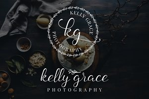 Kelly Grace Premade Logo