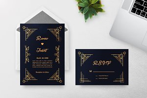 7 Art Deco Wedding Invitation
