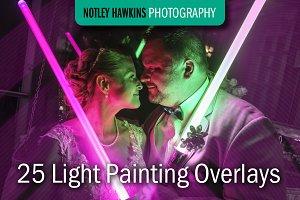 25 Light Painting Overlays