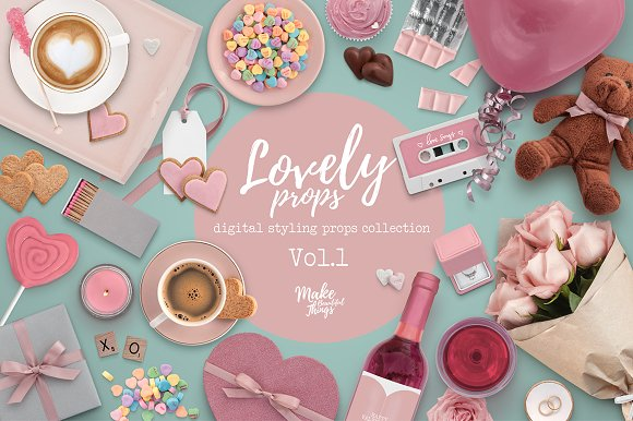 Free Lovely digital styling props Vol.1