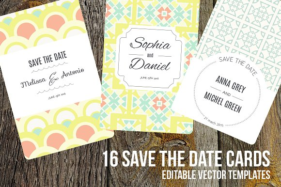 16 Save The Date editable cards Invitation Templates Creative – Save the Date Wedding Email Template