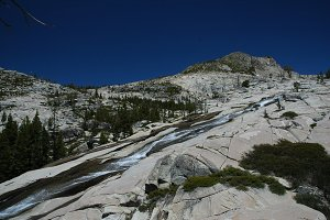 Water Cascading Over Granite Slope