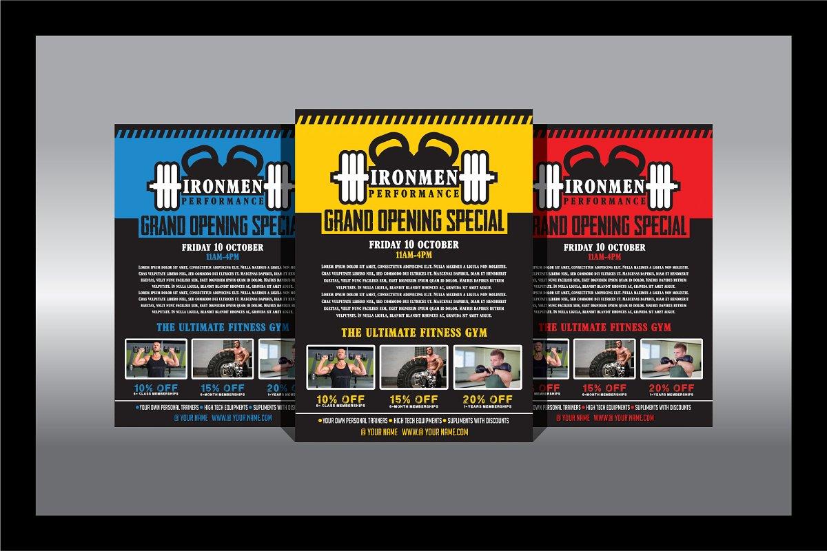 Fitness - Gym Flyer Vol1 ~ Flyer Templates ~ Creative Market