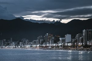 Coastline of night Rio
