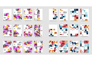 Set of a4 minimal geometric print templates
