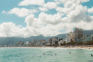 Huge panorama of Rio coastline