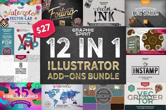 12 in 1 ILLUSTRATOR Bundle -Graphicriver中文最全的素材分享平台