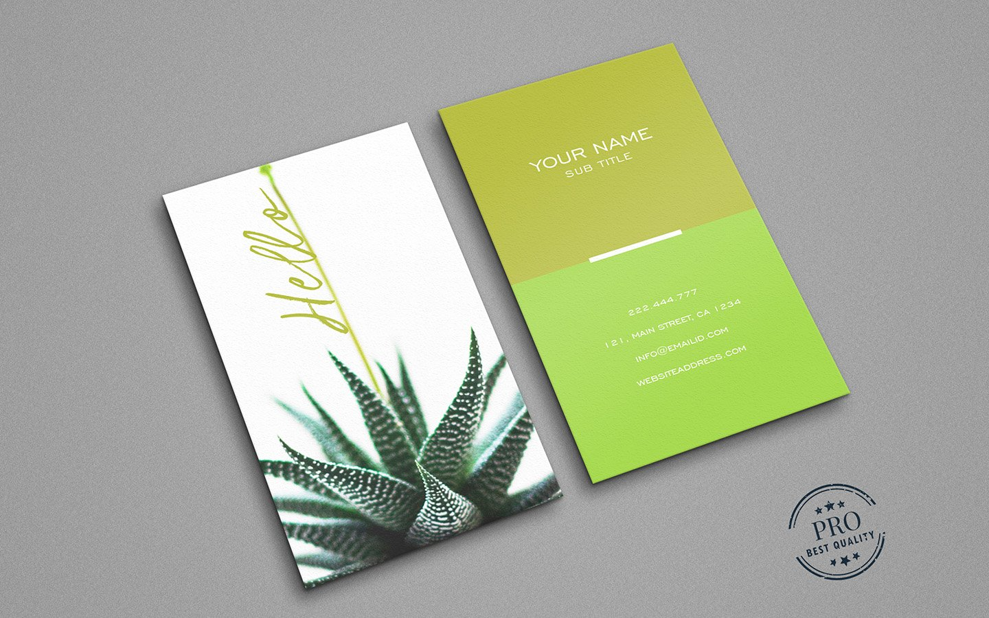 Green Natural colors business card ~ Business Card Templates ...