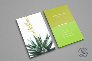 Green Natural colors business card
