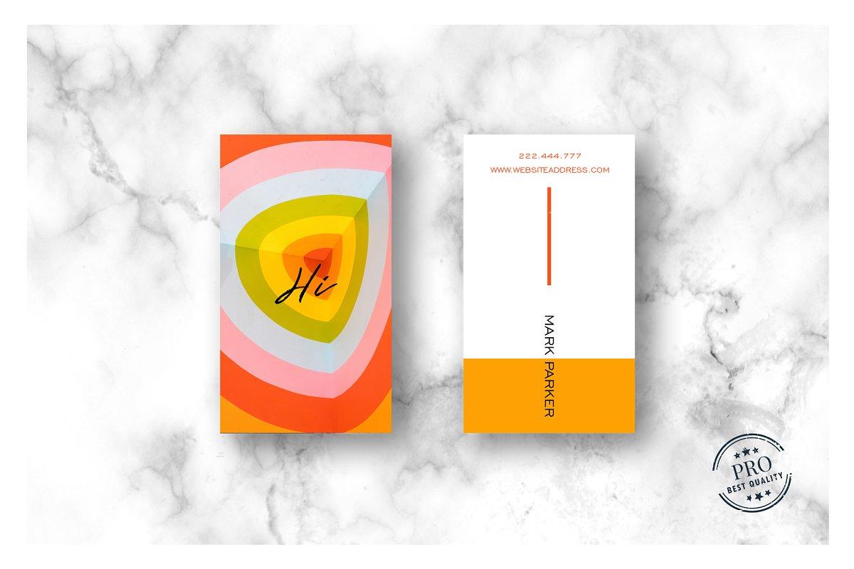 Beautiful Orange Colour card