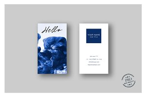 Blue splash cool business card