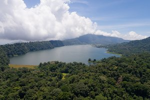 Lake in the mountains, island Bali,Indonesia.