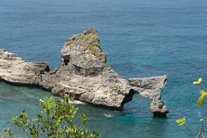 Rock in the sea. Bali,Indonesia.
