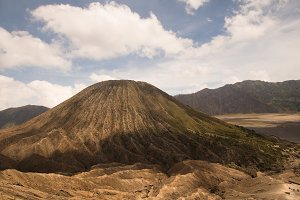 Volcano with crater. Jawa, Indonesia.