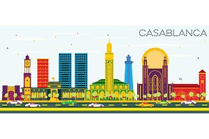 Casablanca Morocco City Skyline